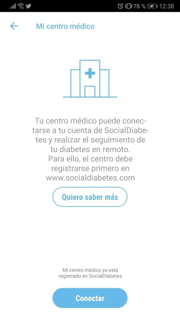 Conectar Mi Centro en SocialDiabetes